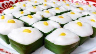 อาชีพเสริม ทำขนมไทย ตะโก้ข้าวโพด ทุนน้อย กำไรงาม
